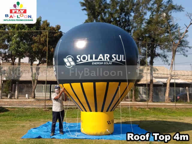 balao inflavel promocional roof top sollar sul energia solar