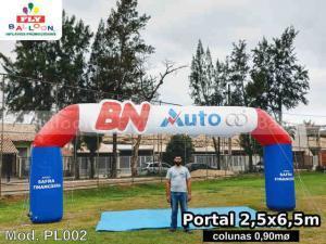 portal inflável promocional BN auto