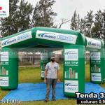 tenda inflável promocional amanco wavin