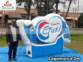 logomarca inflavel promocional sorvetes guri