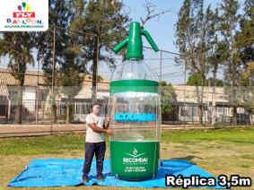 replica gigante inflavel promocional acquamix soda
