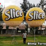 balões promocionais blimp slice batata frita ondulada