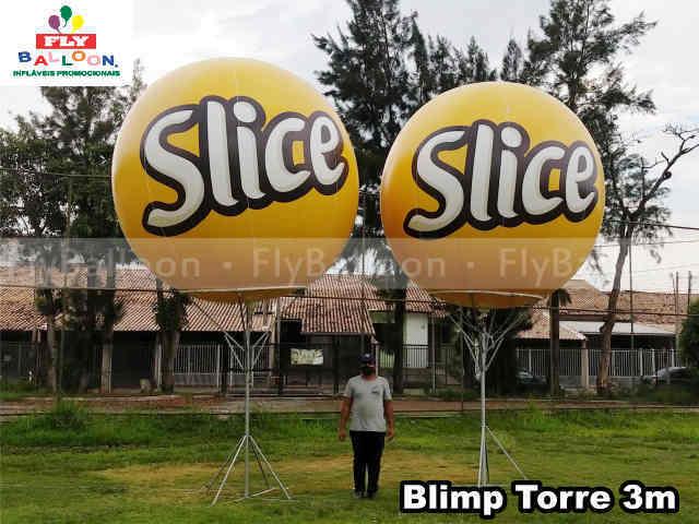 baloes promocionais blimp slice batata frita ondulada