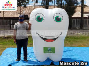mascote inflavel promocional odonto company