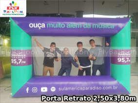 porta retrato inflavel promocional- radio sulamerica paradiso fm