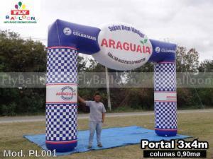 pórtico inflável promocional adubos araguaia