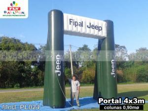 pórtico inflável promocional fipal jeep