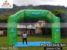 portico inflavel promocional personalizado unimed marilia