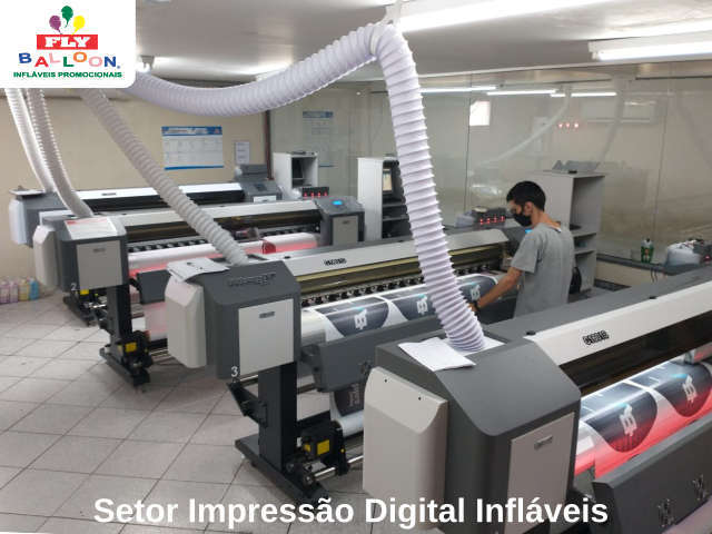 setor impressão digital infláveis promocionais