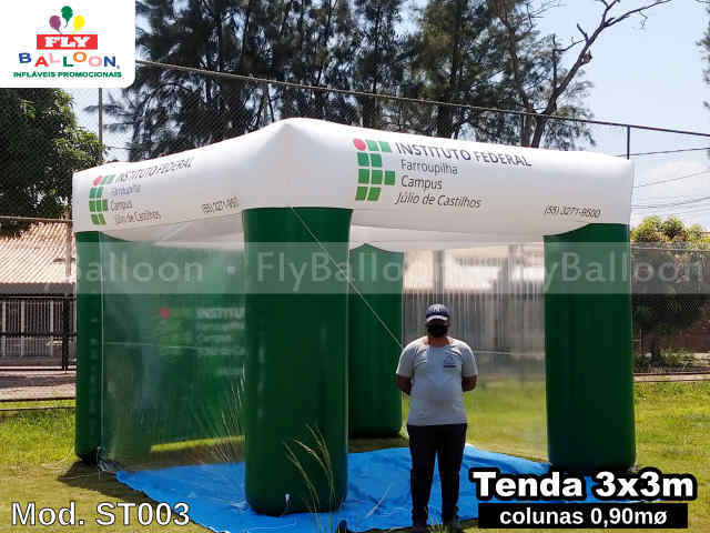 tenda inflável promocional instituto federal farroupilha