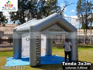 tenda inflável promocional ração optimum