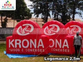 logomarcas inflaveis promocionais krona tubos e conexoes