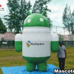 mascote inflável gigante promocional android multiedro