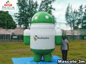 mascote inflavel gigante promocional android multiedro