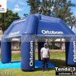 stand inflável promocional personalizada colchões ortobom