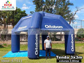 tenda inflavel promocional personalizada colchoes ortobom