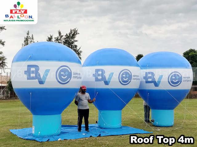 balões promocionais Banco BV sempre compensa