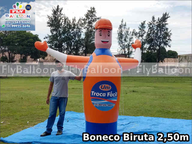 boneco biruta propaganda inflável promocional troca fácil uni lubrificantes