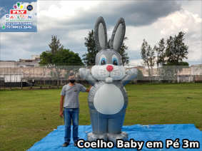 coelho da páscoa baby inflável promocional em pé