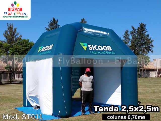 stand inflável promocional sicoob lagoacred gerais