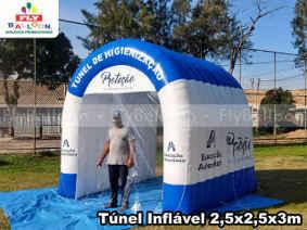túnel inflável personalizado de desinfecção educação adventista