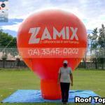 balao inflavel promocional roof top zamix