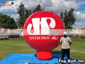 balao inflavel promocional top ball radio jovem pan fm joinville