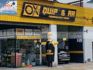 boneco inflavel propaganda gigante biruta promocional ox quip ar