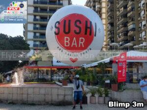 balão blimp aéreo inflável promocional sushi bar carlos ohata