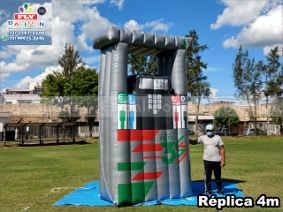 inflável gigante bomba de combustíveis postos 3s
