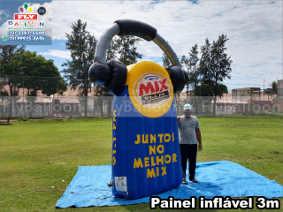 painel inflável promocional rádio mix foz do iguaçu