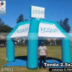tenda inflável personalizada acqua telecom