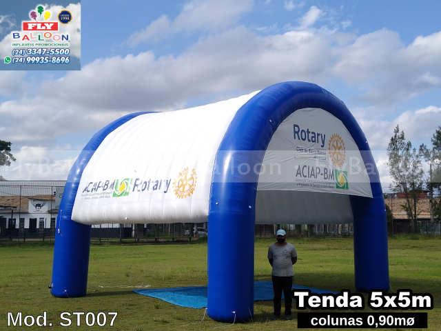 tenda inflável promocional aciap bm e Rotary