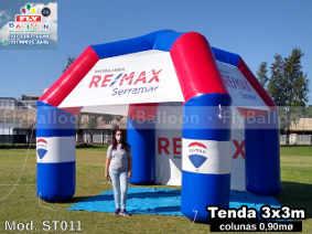 tenda inflável promocional imobiliária remax serramar