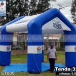 tenda inflável promocional saúde na porta em miguel pereira