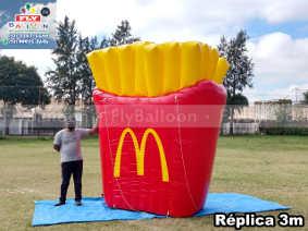 replica inflável gigante promocional batata frita mc donalds