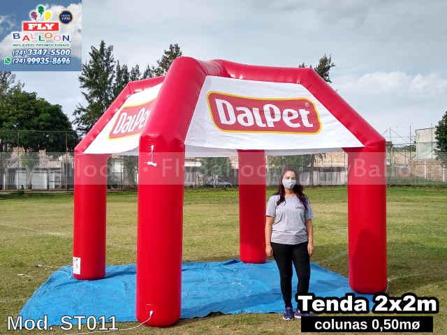 tenda inflável gigante promocional dalpet ração
