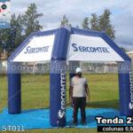 tenda inflável personalizada sercomtel telecomunicações