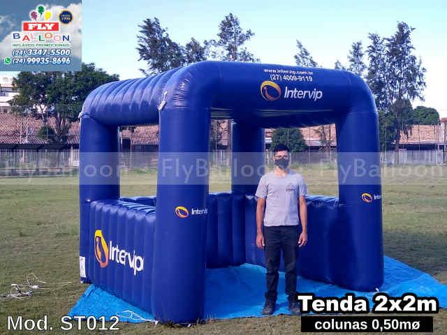 tenda inflável promocional com balcões intervip