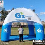 tenda inflável promocional personalizada g3 telecom