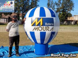 balão inflável promocional bateria moura