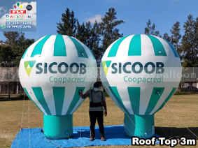 balões infláveis promocionais sicoob coopacredi