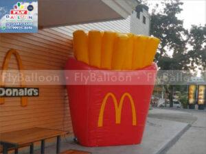 batata frita inflável gigante promocional mc donalds