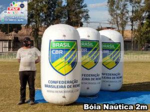 boias náuticas infláveis promocionais confederação brasileira de remo