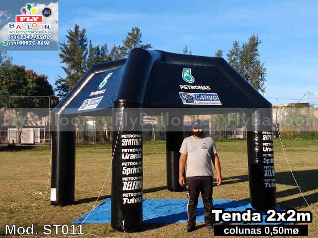 tenda inflável promocional petronas ubrificantes