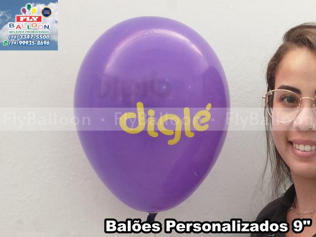 balão personalizado digle