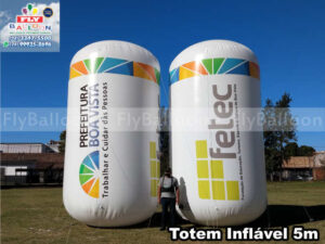 totens infláveis gigantes promocionais prefeitura boa vista fetec